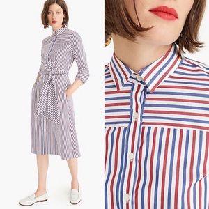 J. CREW • striped midi dress
